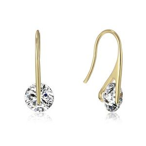 Swarovski Elements 4 CTW Crystal Drop Earrings